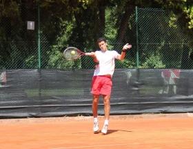 Il romano Lorenzo Abbruciati ha vinto entrambi i match di martedì 2 luglio (foto Segni D'Interpunzione)