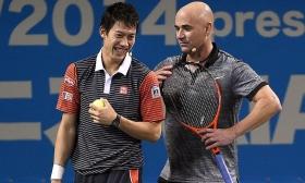 Andre Agassi e Kei Nishikori