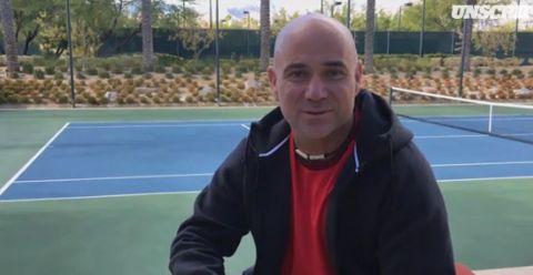 Andre Agassi nella foto