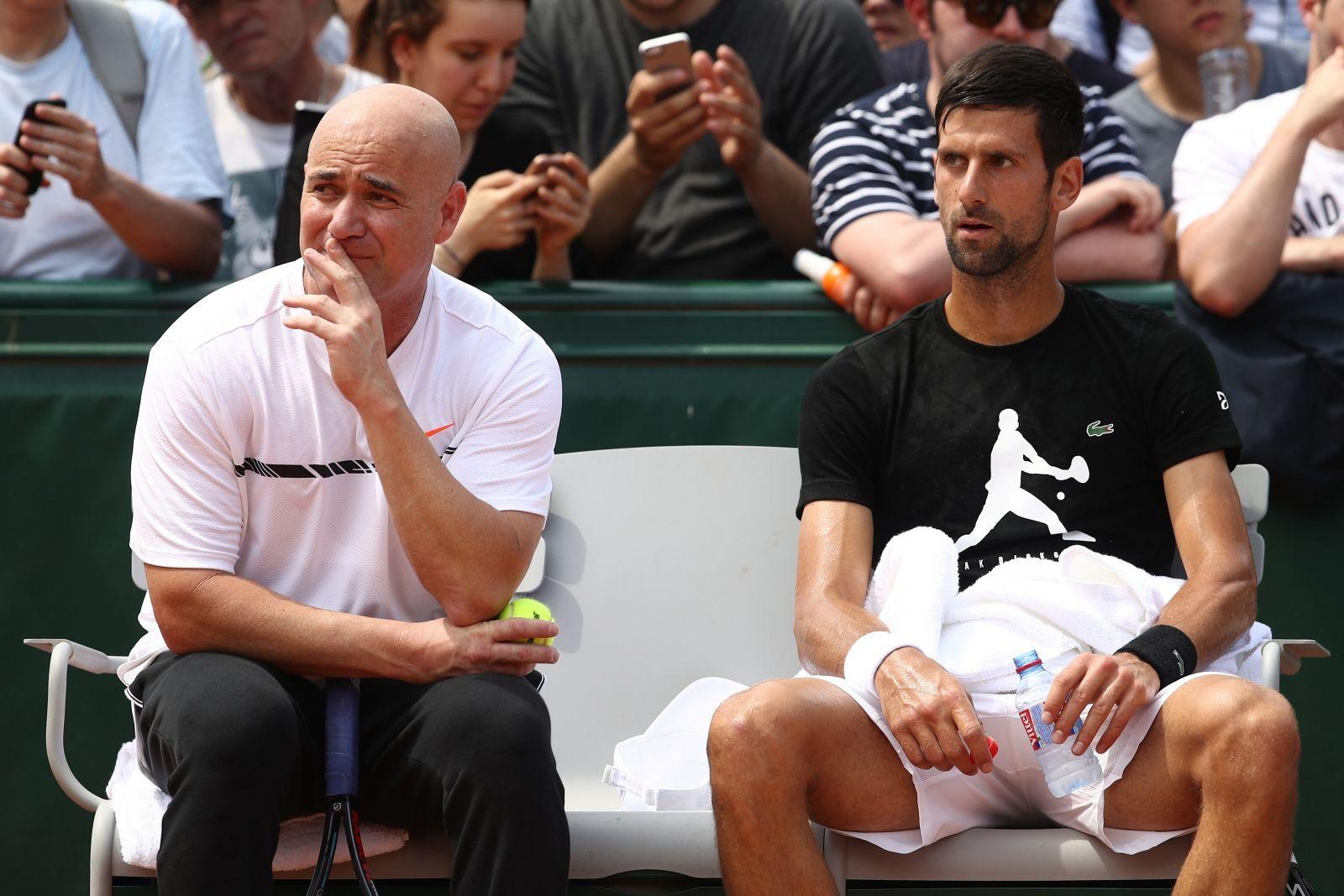 Andrea Agassi e Novak Djokovic