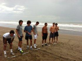 La foto degli allenamenti di Alessandro Giannessi, Gianluigi Quinzi, Alessandro Colella, Federico Gaio e Gianmarco Micolani