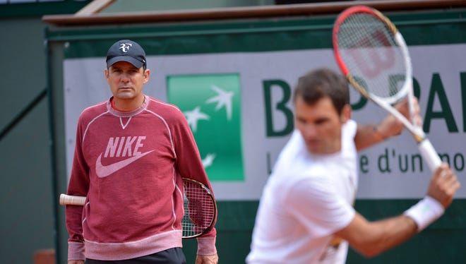 Paul Annacone con Roger Federer