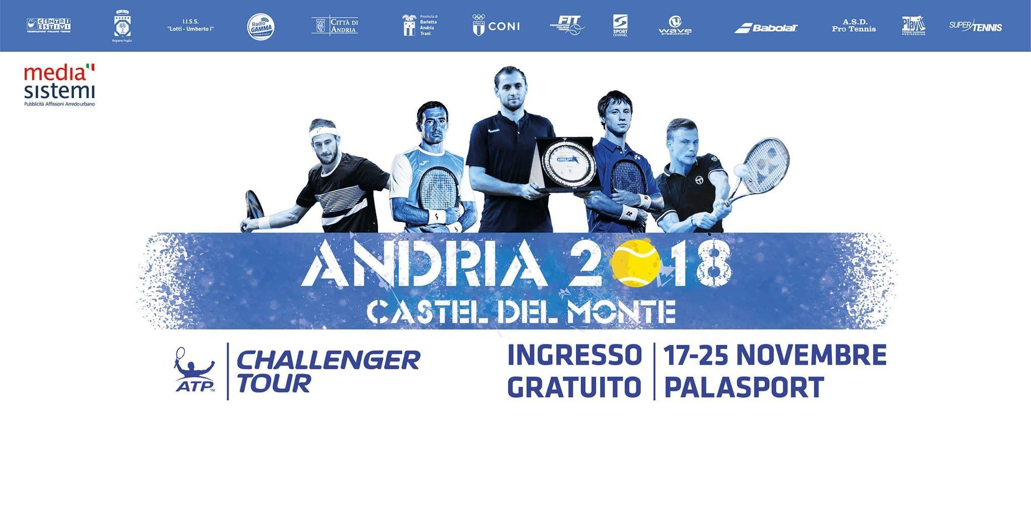 Challenger Andria: Ingresso gratuito e grande attesa per il torneo