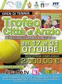 """Arriva il """"Trofeo Città di Anzio"""", l'open di tennis firmato Nettunia"""
