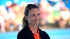 Eva Asderaki-Moore è una dei più famosi giudici di sedia del mondo del tennis