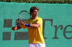 Filippo Baldi impegnato al Roland Garros Juniores