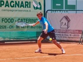 Filippo Baldi, 20enne di Vigevano, ha vinto il derby azzurro contro Andrea Vavassori - Foto Locatelli