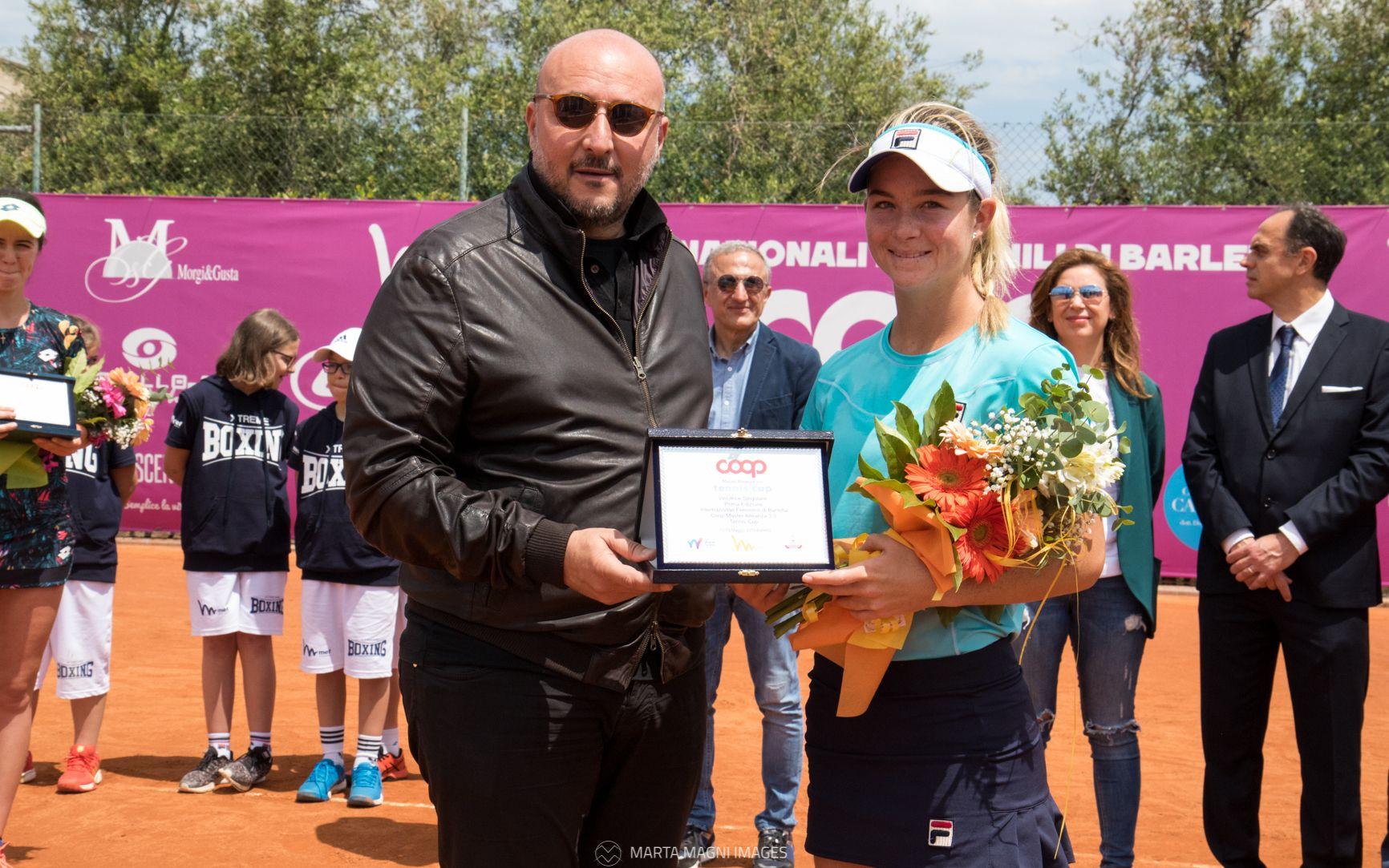 Elizabeth Mandlik vincitrice del torneo di Barletta - Foto Marta Magni