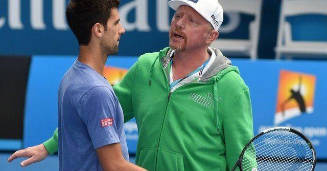 Boris Becker e Novak Djokovic nella foto