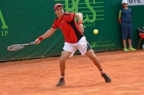Carlos Berlocq, 33enne davisman argentino, ha appena vinto il Challenger di Blois in Francia - Foto Francesco Peluso