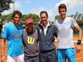 Nella foto Baldi, Berrettini, Santopadre ed il Direttore Pancho di Matteo