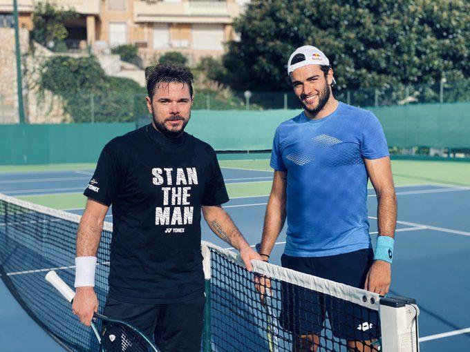 Stan Wawrinka con Matteo Berrettini