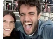 L'esultanza di Matteo Berrettini alla vittoria dell'Italia a Wembley (video)
