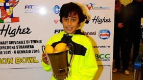 Fadi Bidan, classe 2006 siriano con passaporto libanese, vincitore dell'under 10 maschile