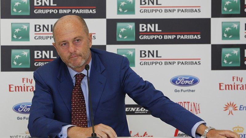 Angelo Binaghi è il Presidente della Federtennis