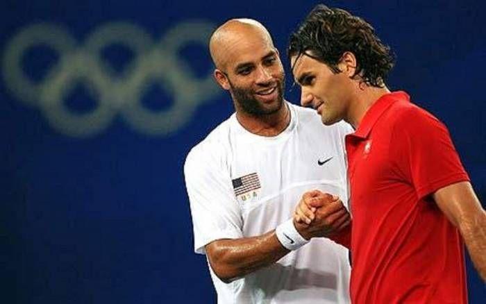 James Blake e Roger Federer