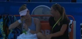 Al termine del primo parziale, Nicole Melichar, allenatrice della Bogdan, ha parlato con la propria tennista in maniera simpatica