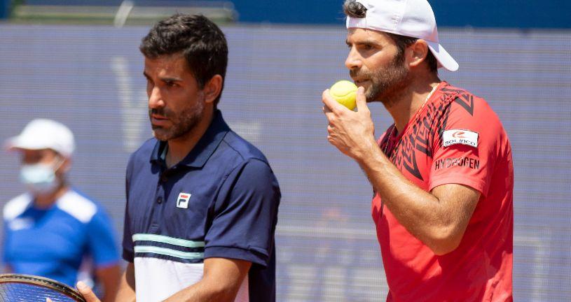 L'argentino Maximo Gonzalez e il davisman azzurro Simone Bolelli (foto Marta Magni/MEF Tennis Events)