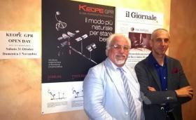 Il presidente Maurizio Massaccesi (a destra) con Cosimo Bruno, preparatore atletico del BLTC