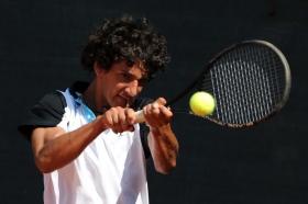Lorenzo Boveri, testa di serie n.2 delle qualificazioni, ha superato il tedesco Samstag - Foto Francesco Panunzio