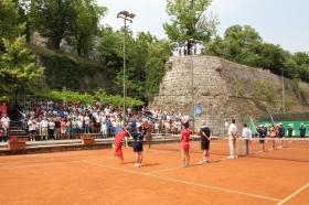 La presentazione delle finaliste dell'edizione 2015 del torneo internazionale di Brescia