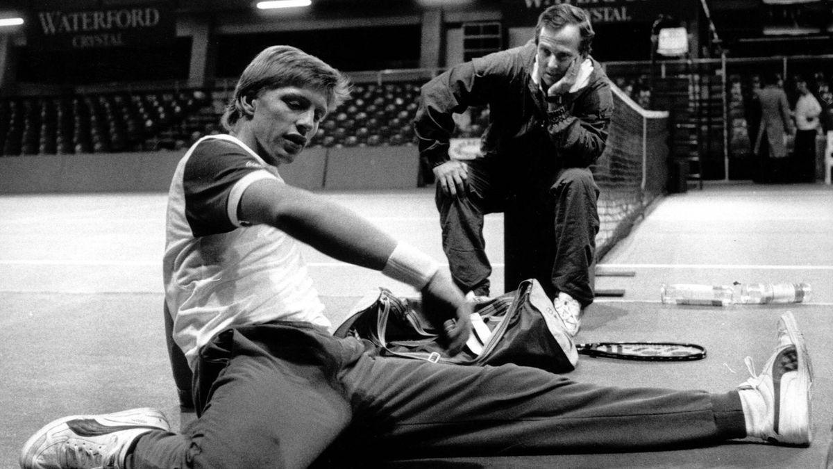 Bob Brett con Boris Becker