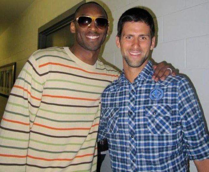 Kobe Bryant con Novak Djokovic