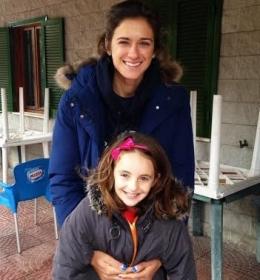 la piccola pugliese Martina Cudazzo con la maestra Irina Buryachok, ex Top-200 Wta