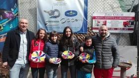 I ragazzi dell'Urbinati Tennis Academy premiati, con i maestri Omar Urbinati e Luca Bartera.
