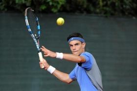 Simone Camposeo, 16 anni, ha sconfitto col punteggio di 6-4 6-3 Leonardo Chiari - Foto Francesco Panunzio