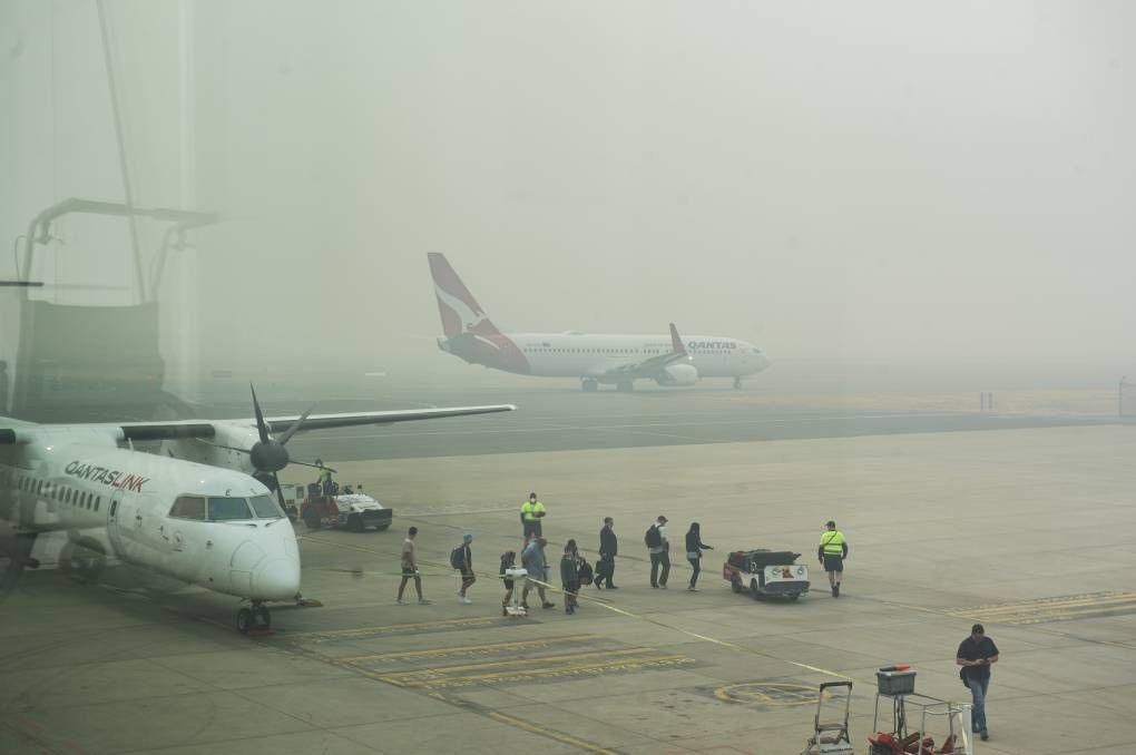 La situazione all'aeroporto di Canberra (Dion Georgopoulos - CanberraTimes)