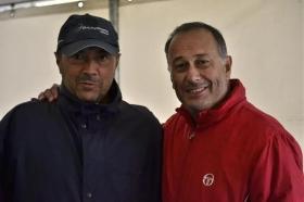 Francesco Cancellotti, direttore tecnico del torneo, e Marcello Marchesini, presidente della MEF Tennis Events che organizza la manifestazione tennistica.