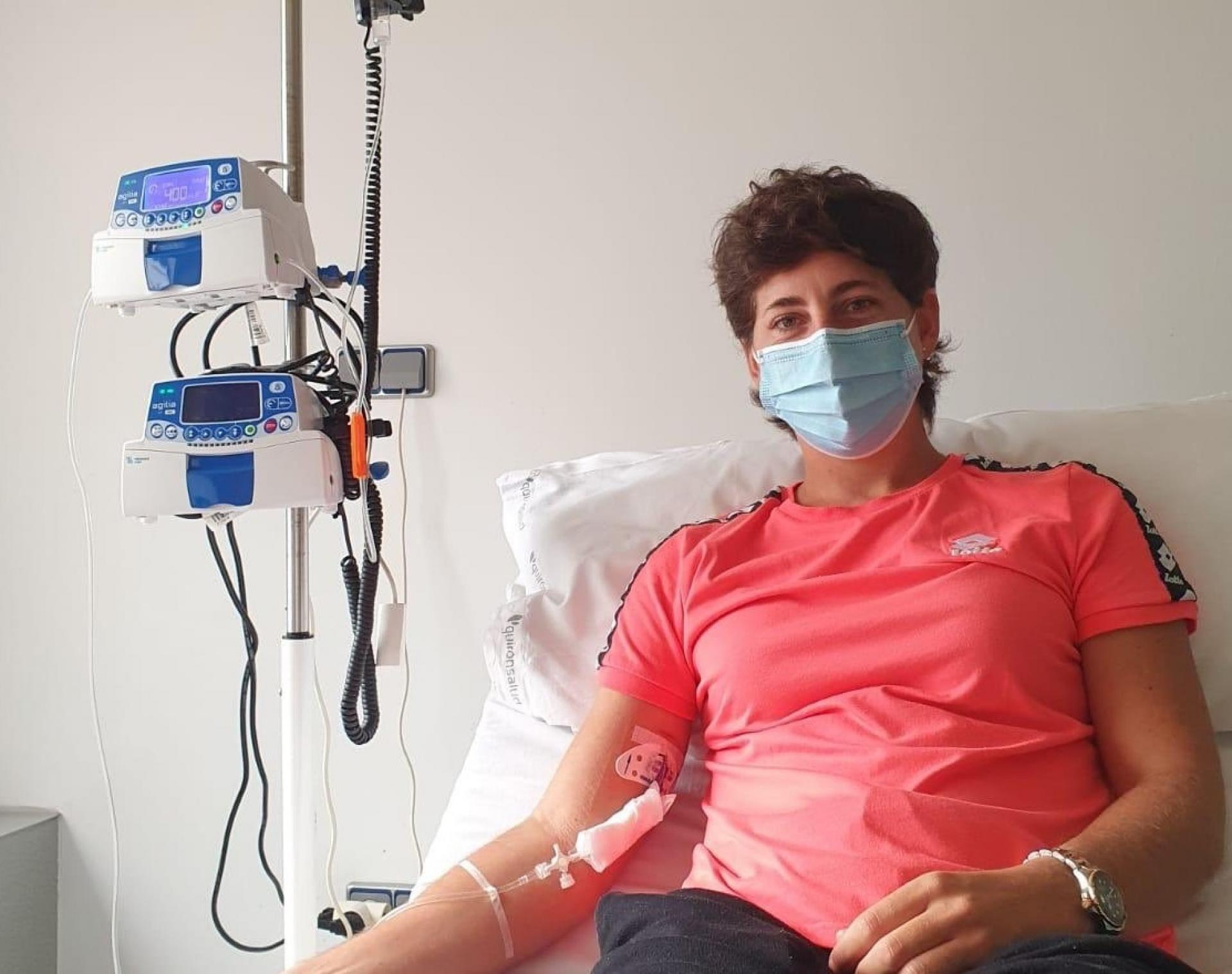 Carla Suarez durante un trattamento