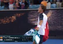 Australian Open: Pablo Carreno Busta furibondo con l'arbitro dopo la fine della partita con la bellissima partita con Nishikori per il grave errore commesso (VIDEO)