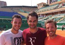 Marco Cecchinato si allena con Federer e Fognini a Monte Carlo