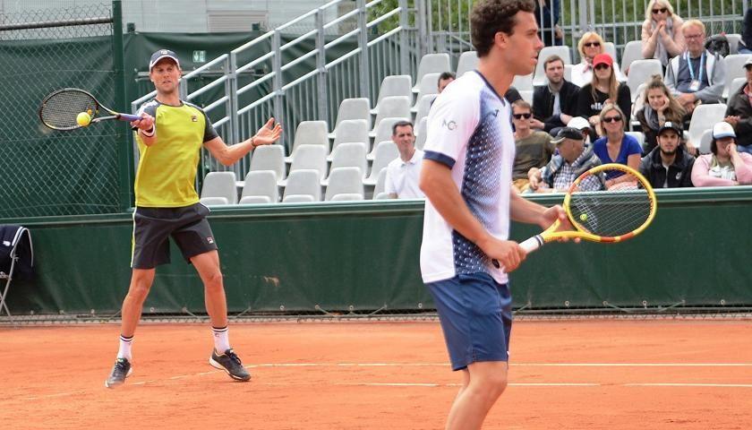 Marco Cecchinato e Andreas Seppi nella foto