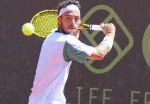 """Marco Cecchinato in semifinale a Milano dichiara: """"Sono riuscito a portare a casa questa partita difficile pur senza giocare un buon tennis, ma questa semifinale l'ho voluta fortemente"""""""
