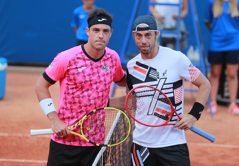 Marco Cecchinato e Paolo Lorenzi nella foto scattata oggi a San Marino