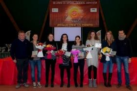La squadra femminile di Serie A1 del Ct Ceriano, grande protagonista di questo 2015, in cui il club ha festeggiato i 30 anni dalla fondazione