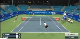 I pochi spettatori del torneo di Chengdu