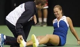 Dominika Cibulkova si è dovuta ritirare per crampi