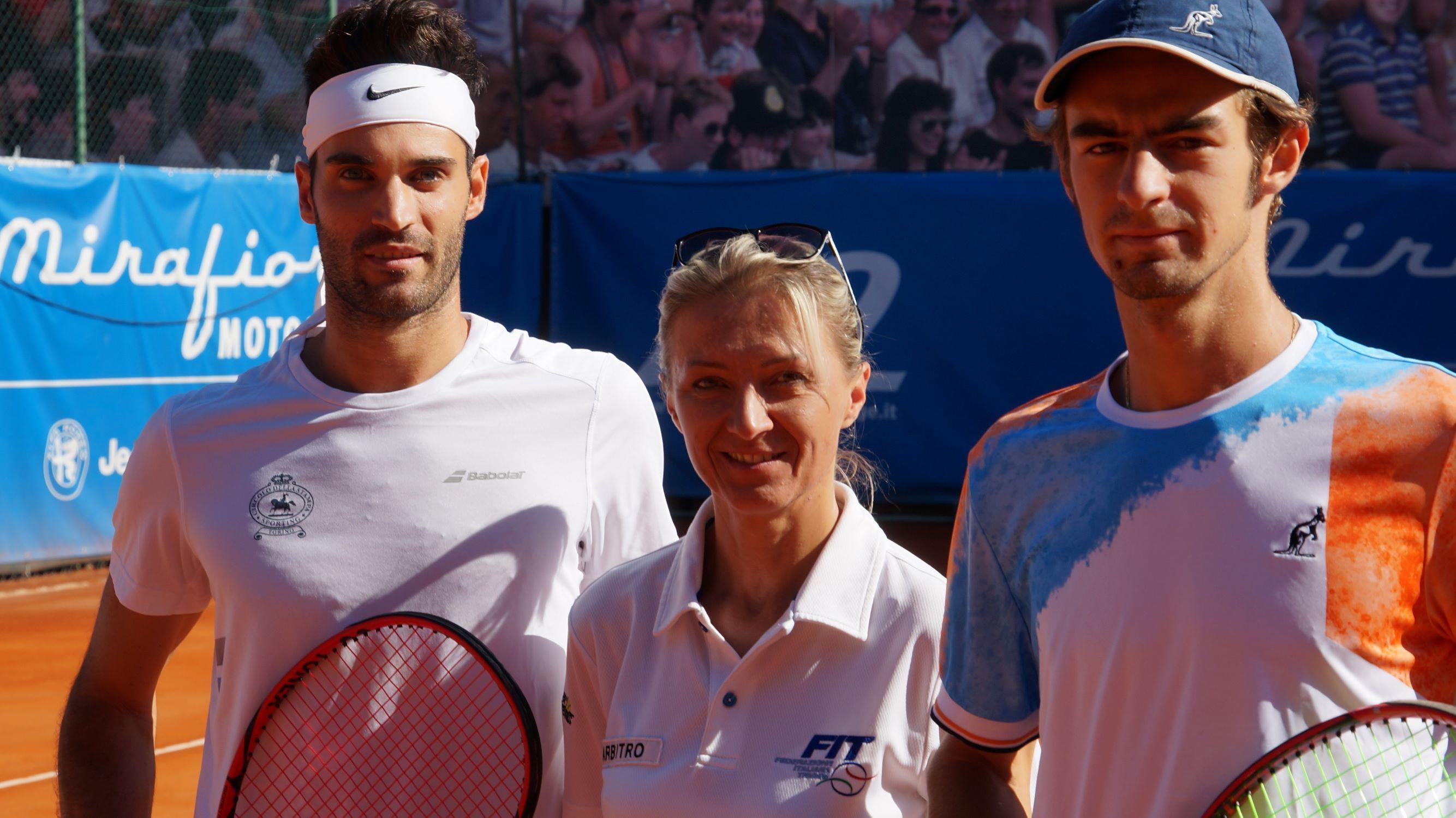 In foto i finalisti 2019 del tabellone Open maschile, Nicola Cigna (vincitore) e Alessio Giannuzzi