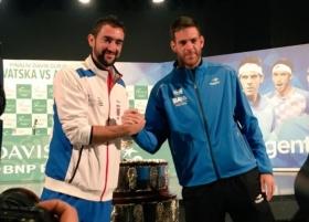 Davis Cup - Finale: Parlano Cilic e Del Potro