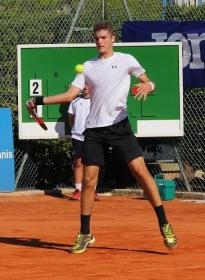 Alessandro Coppini, 18 anni da Milano, ha vinto il suo singolare nel ritorno dei play-off promozione, ma non è bastato