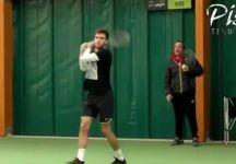 Borna Coric si allena con Riccardo Piatti (Video)
