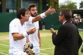 Nella foto Pablo Cuevas e Marcel Granollers