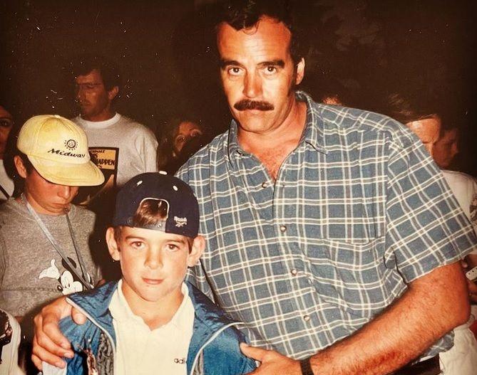 Un giovanissimo Juan Martin Del Potro con papà Daniel