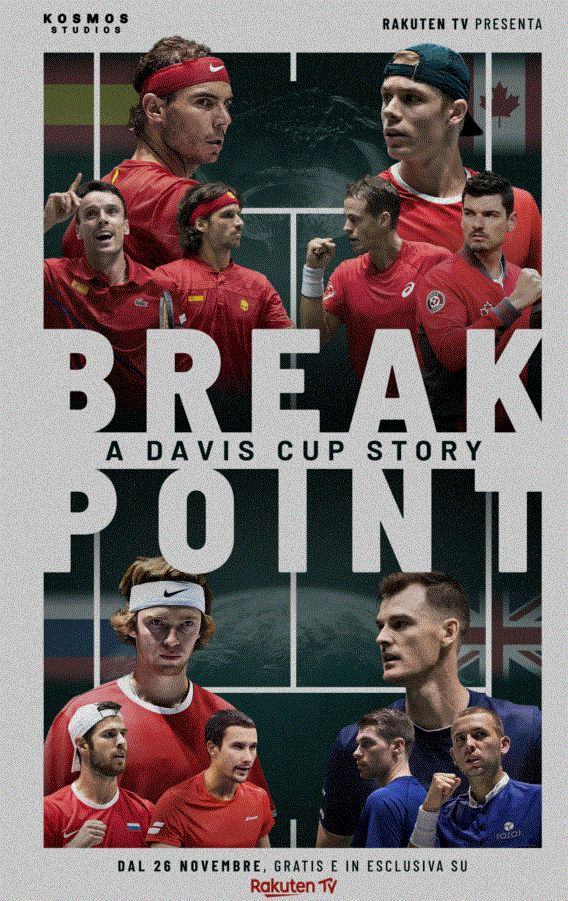 Break Point - A Davis Cup Story, documentario sulla Coppa Davis che verrà rilasciato gratuitamente a partire dal 26 novembre su Rakuten TV