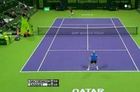 Bellissimo scambio tra Davydenko e Gasquet a Doha