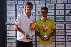 Federico Delbonis, 24 anni, vincitore della decima edizione dell'Aspria Tennis Cup 2015 Trofeo BCS - (foto Makers).